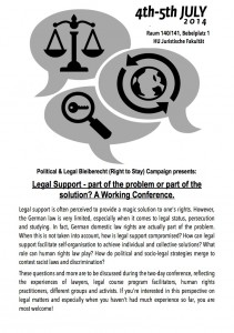 Working Conference on Legal Support (04.&05.07)